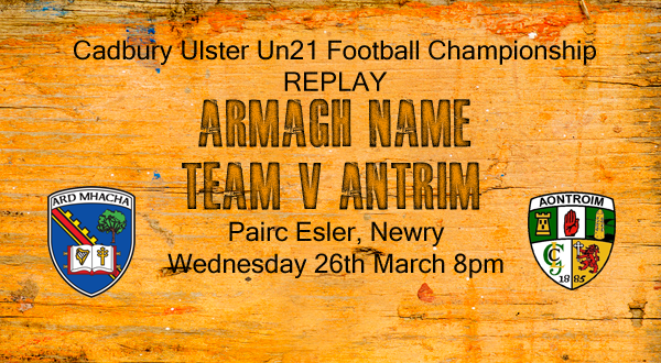Un21s: Armagh name team for replay
