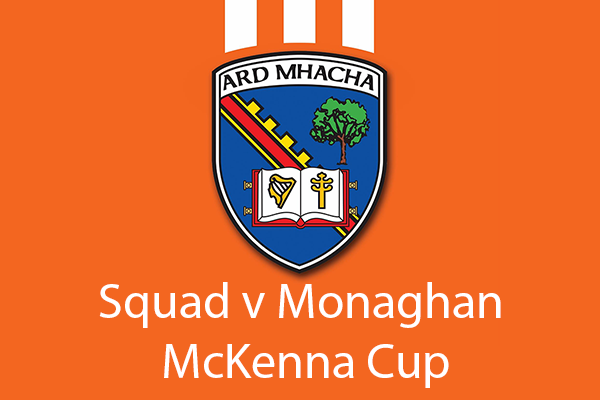 Squad announced for Monaghan game