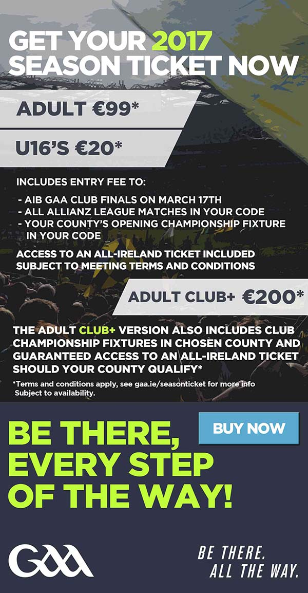 GAA Season Ticket 2017