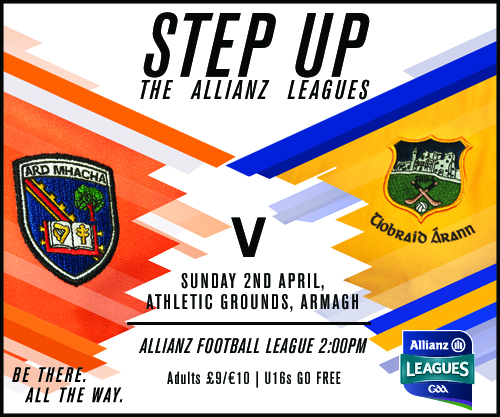 Armagh Team v Tipperary announced