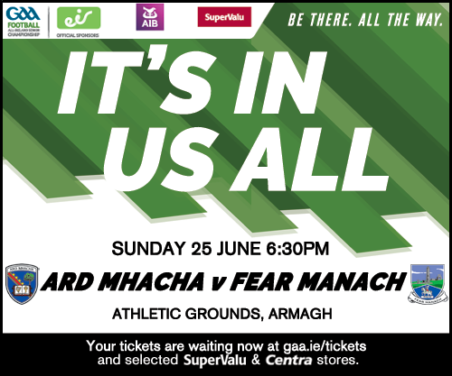 Armagh v Fermanagh Team named