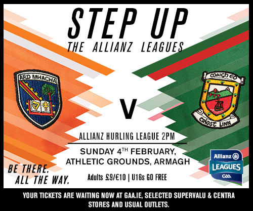 Armagh hurlers host Mayo this weekend