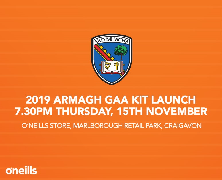 NEW Armagh GAA Kit to be revealed…