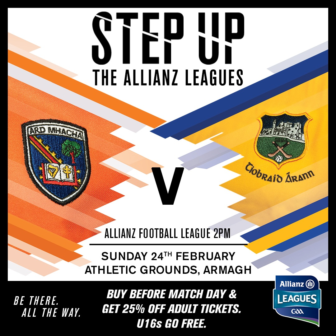 Ticket Information: Armagh v Tipperary | Louth v Armagh