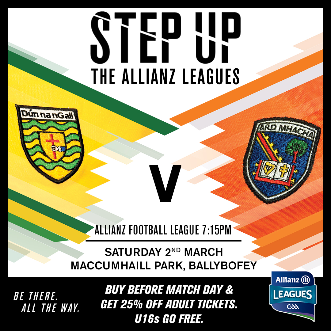 Armagh footballers travel to Donegal this Saturday