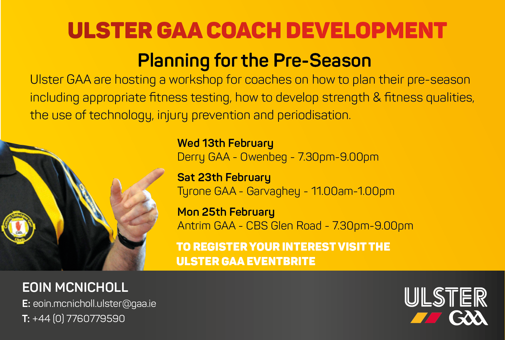 Coaching Workshop: Planning for the pre-season