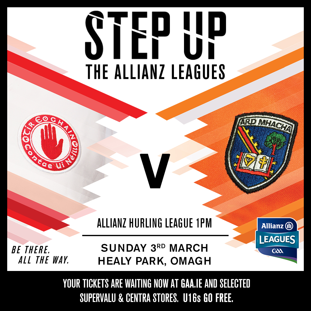 Armagh hurlers face Tyrone in Round 5