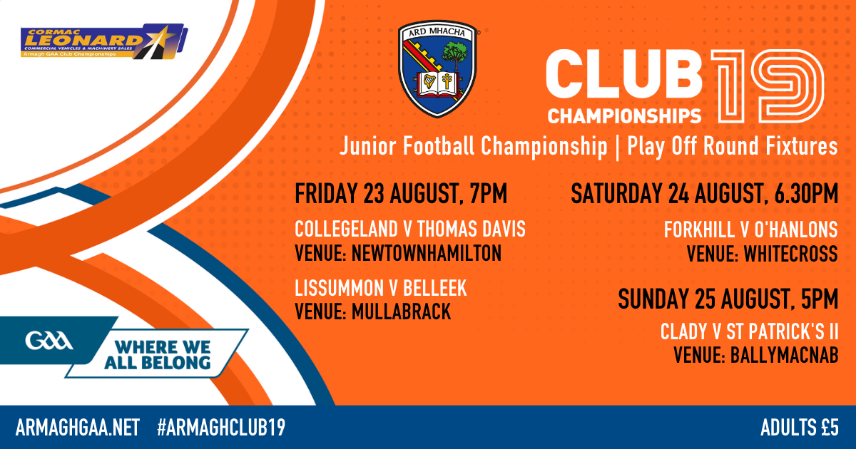Junior Football Championship – Play Offs