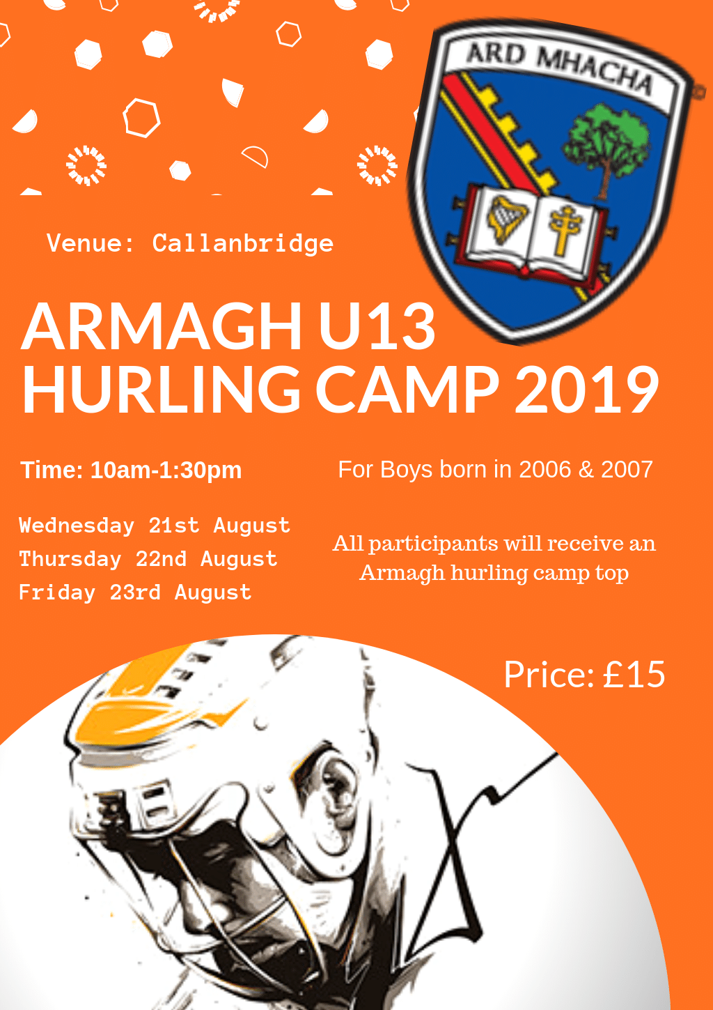 Armagh U13 Hurling Camp 2019