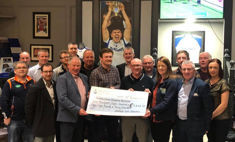 Armagh GAA referees fundraise almost £8,000 for Southern Area Hospice