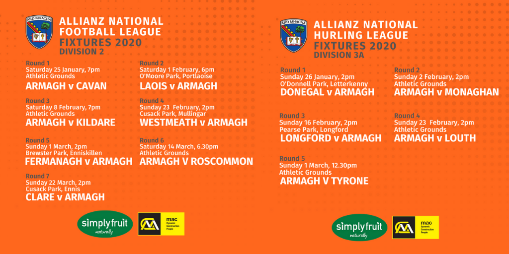 Link to 2020 National Leagues: Armagh fixtures post