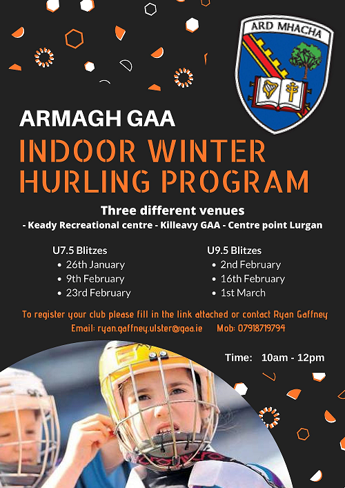 Armagh indoor winter Hurling programme