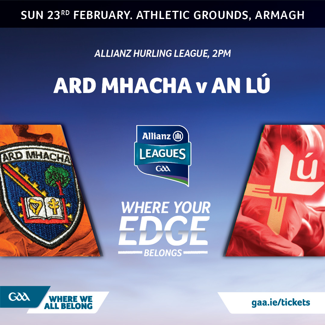 Armagh hurlers at home to Louth in Round Four
