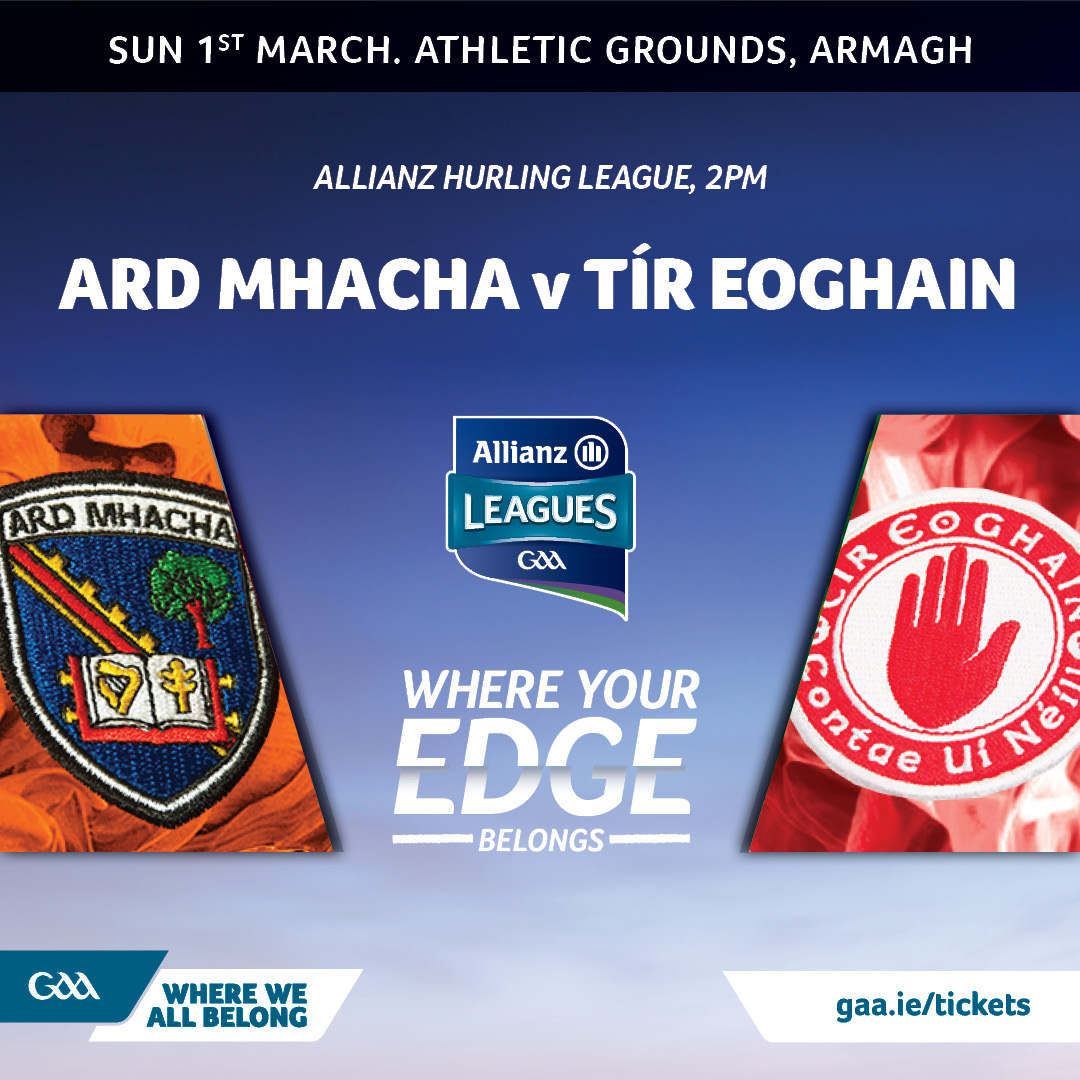 Armagh hurlers take on Tyrone in final league round