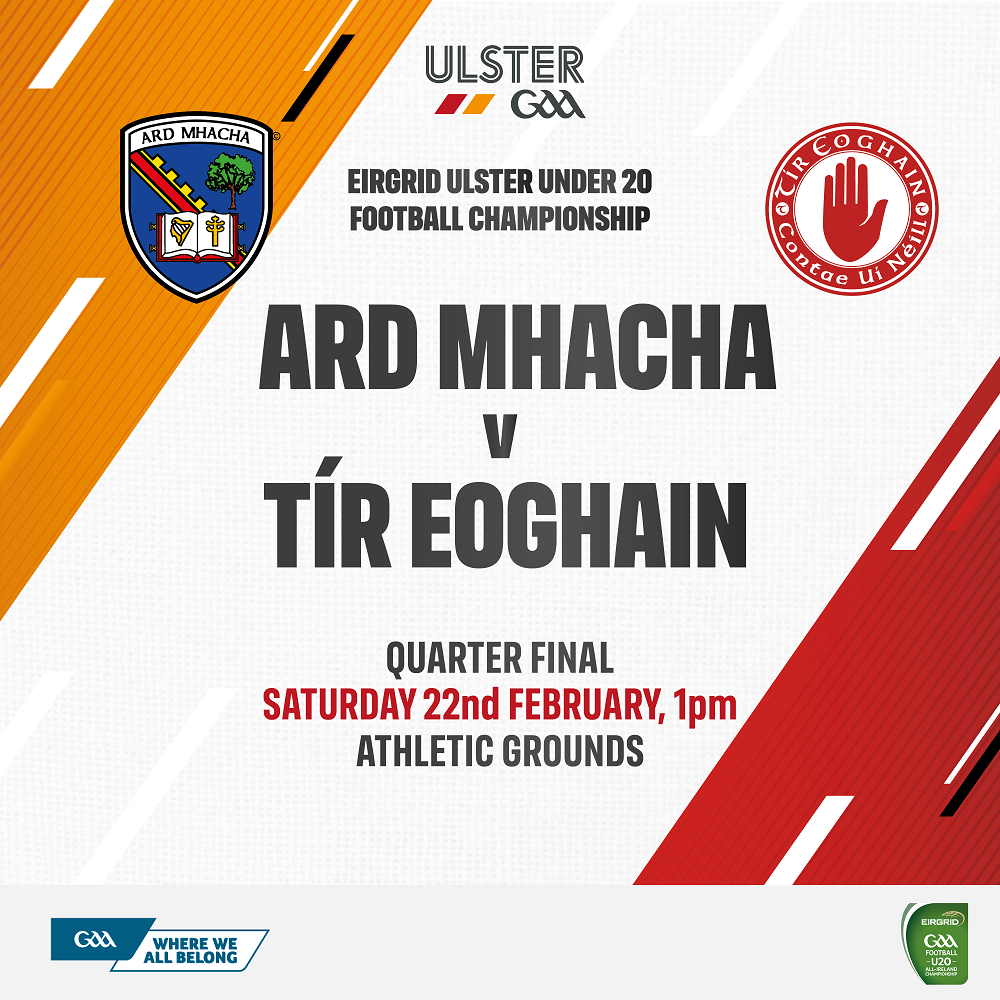 Link to RE-FIXTURE: Eirgrid Ulster U20 Football Championship post