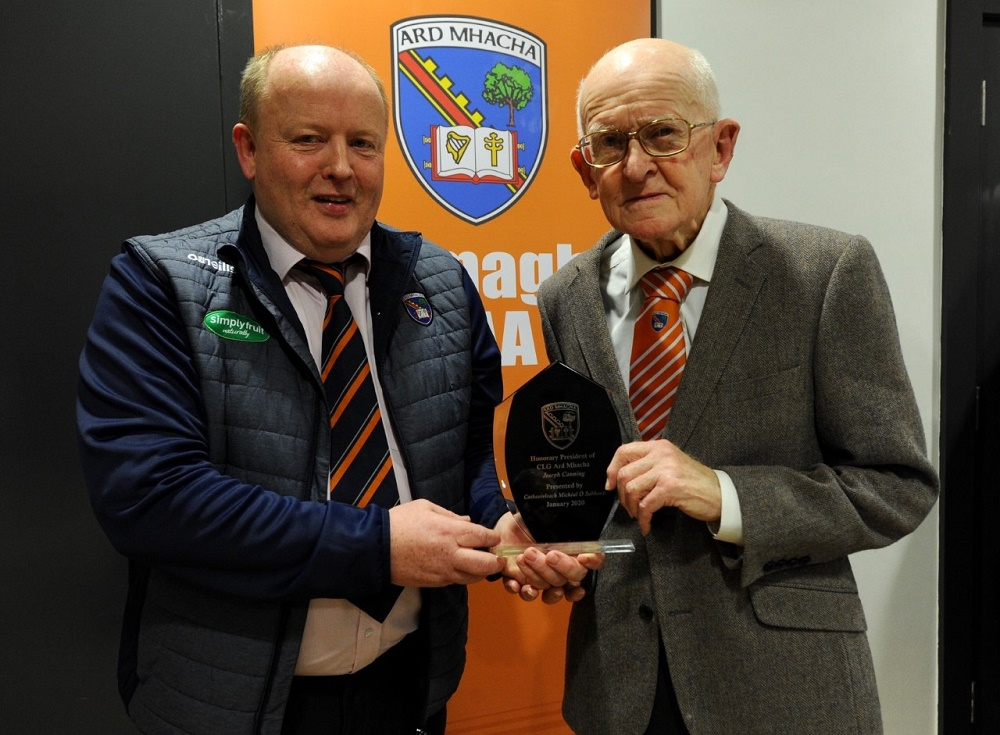 Joseph Canning honoured as Armagh County President