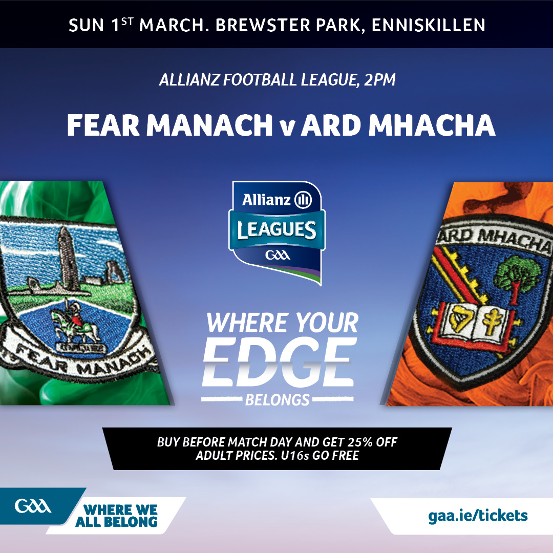 Link to Ticket Info: Fermanagh vs Armagh post