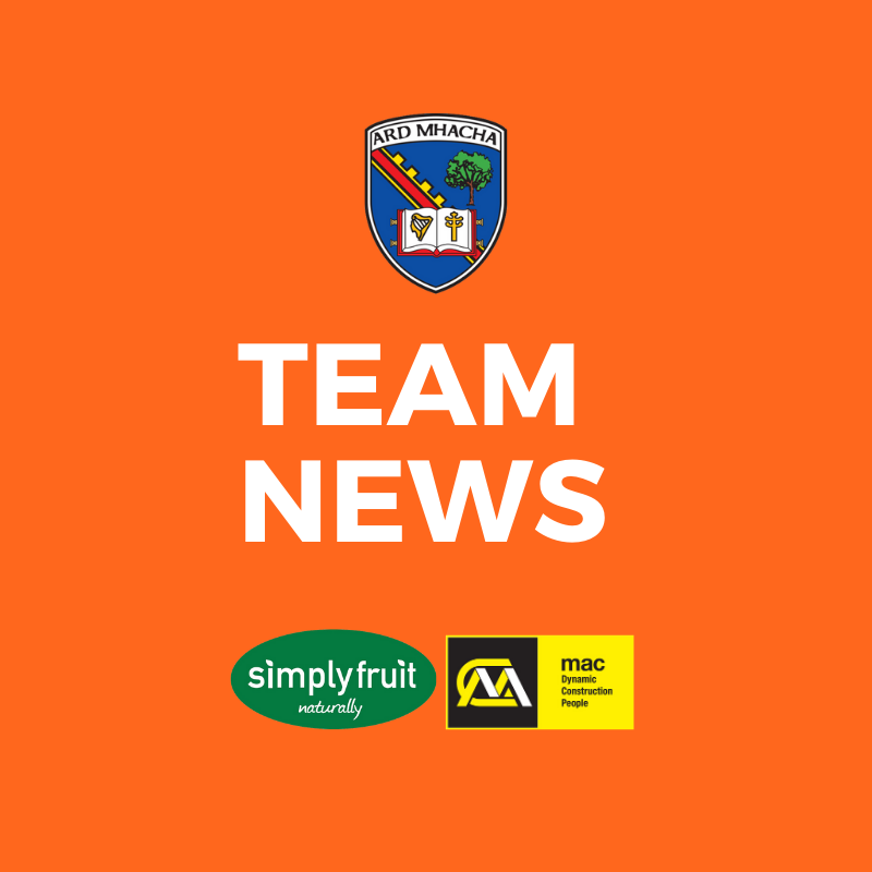 TEAM NEWS: Armagh football team named to face Kildare in Round 3