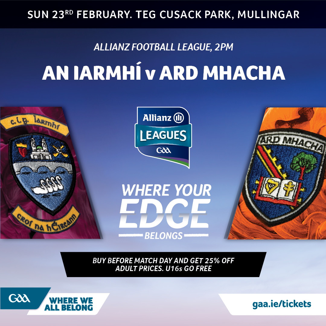 Ticket Info: Westmeath vs Armagh