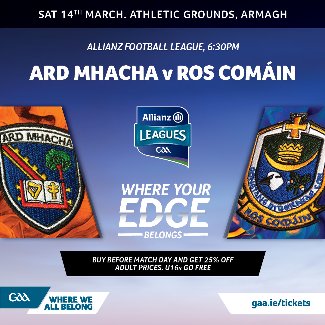 Link to Ticket Info: Armagh vs Roscommon post