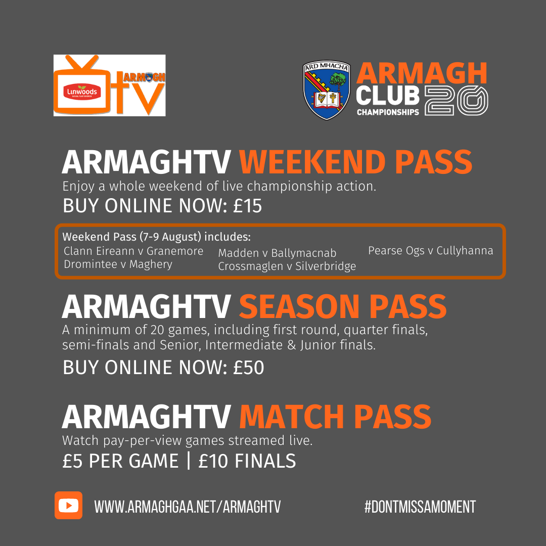 Link to Armagh GAA launch extensive live streaming for club championships post