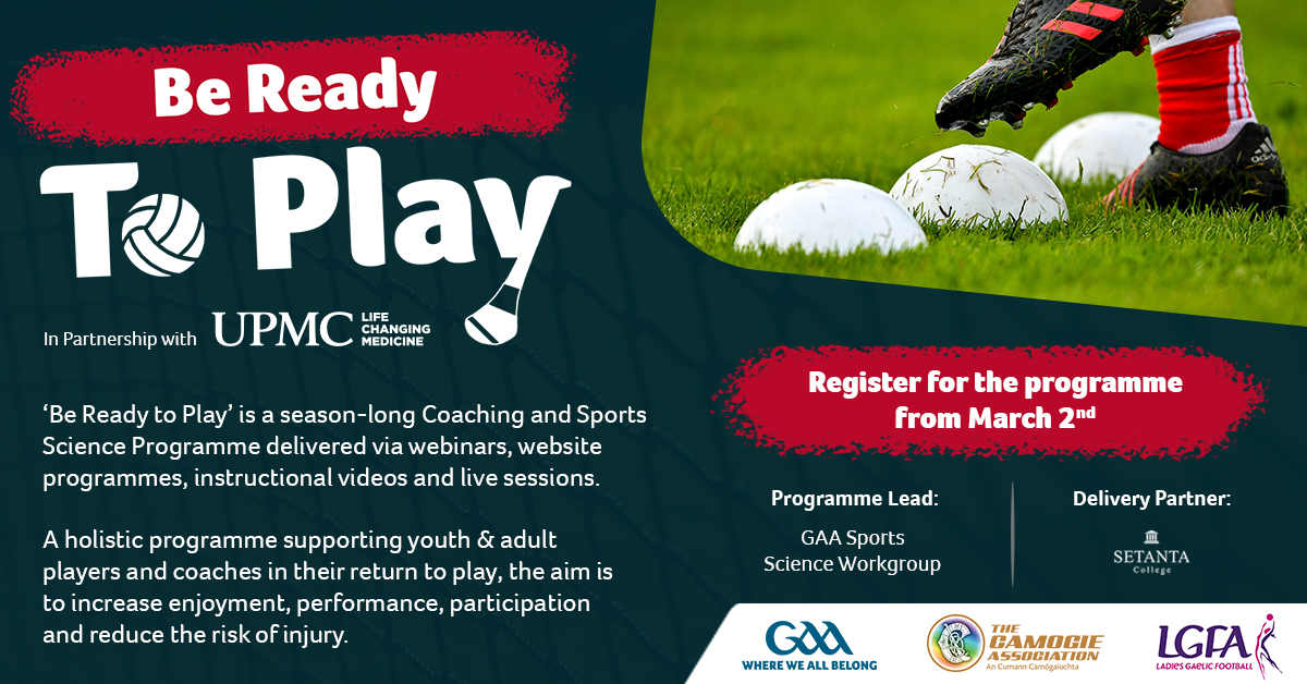 Groundbreaking 'Be Ready to Play' coaching programme launched