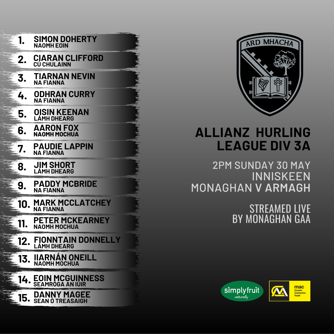 Padraig O'Connor names hurling side to face Monaghan