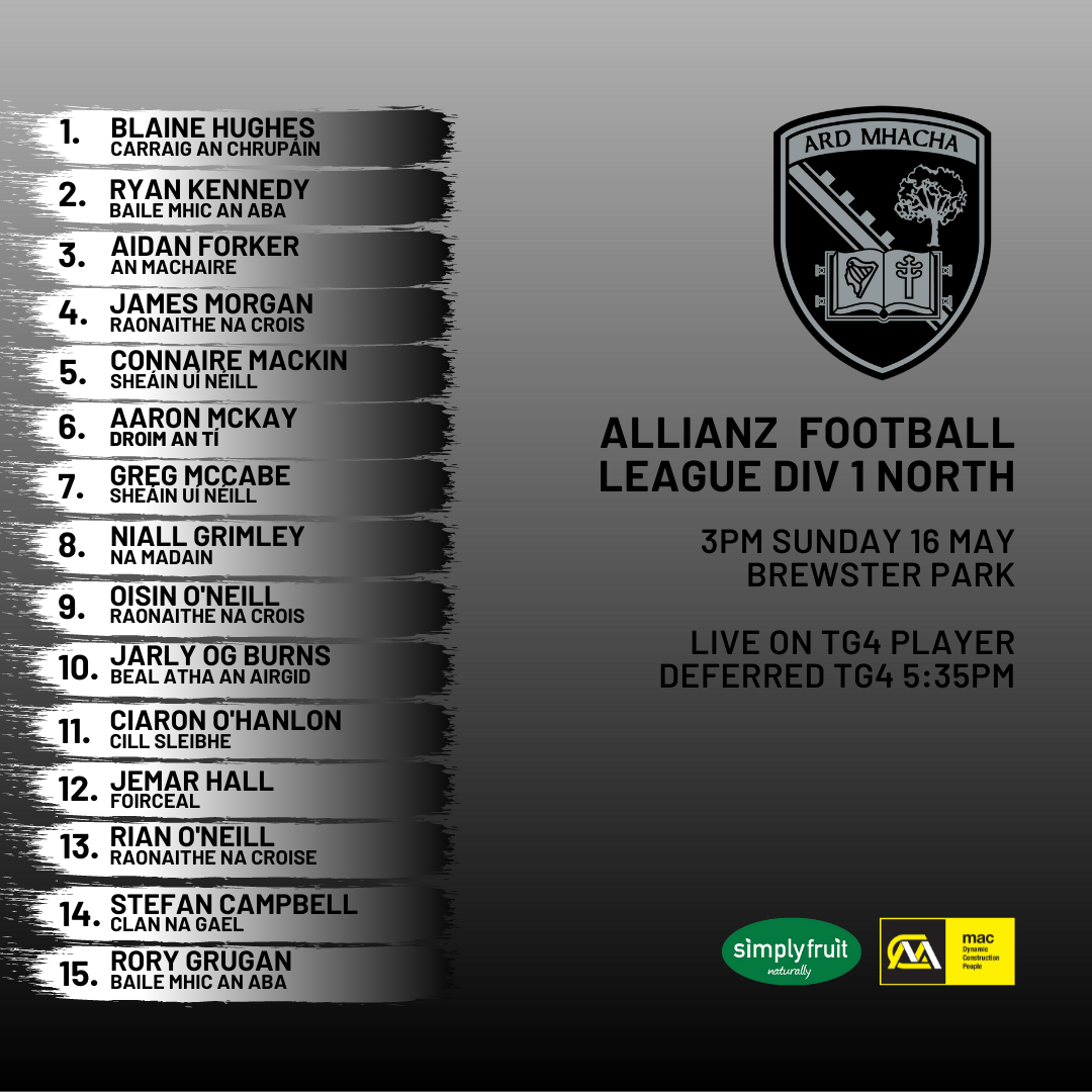 Kieran McGeeney names his side to face Monaghan