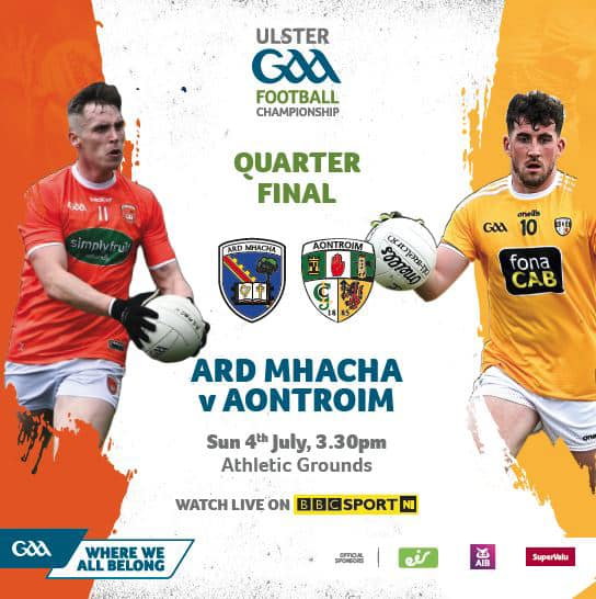 Armagh face Antrim in the USFC Qtr Final at the Athletic Grounds