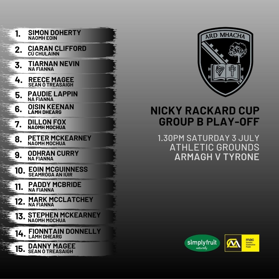 Team News: Padraig O'Connor names his side to face Tyrone in Nicky Rackard