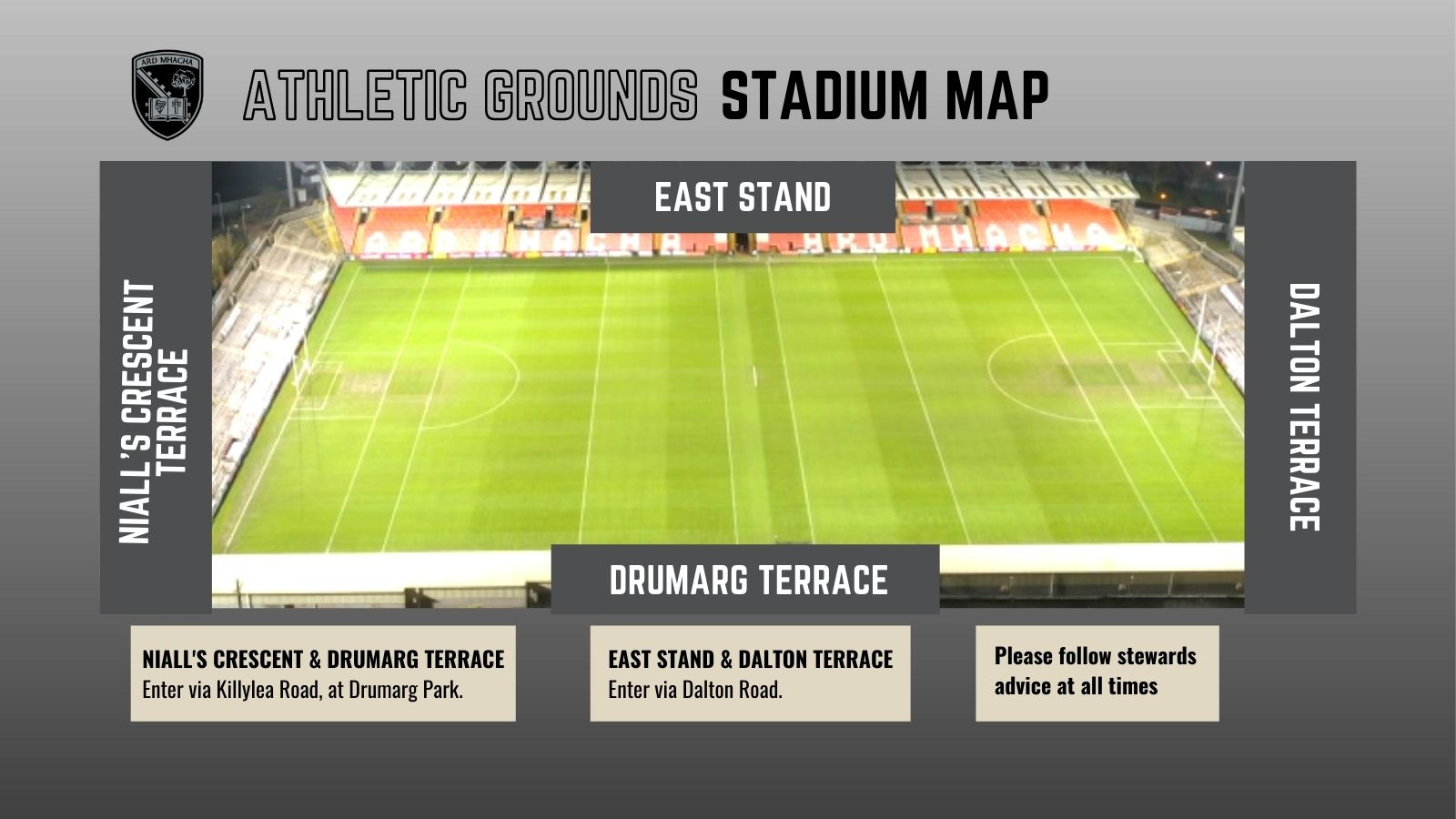 Link to Spectator Information for attending Ulster GAA games post