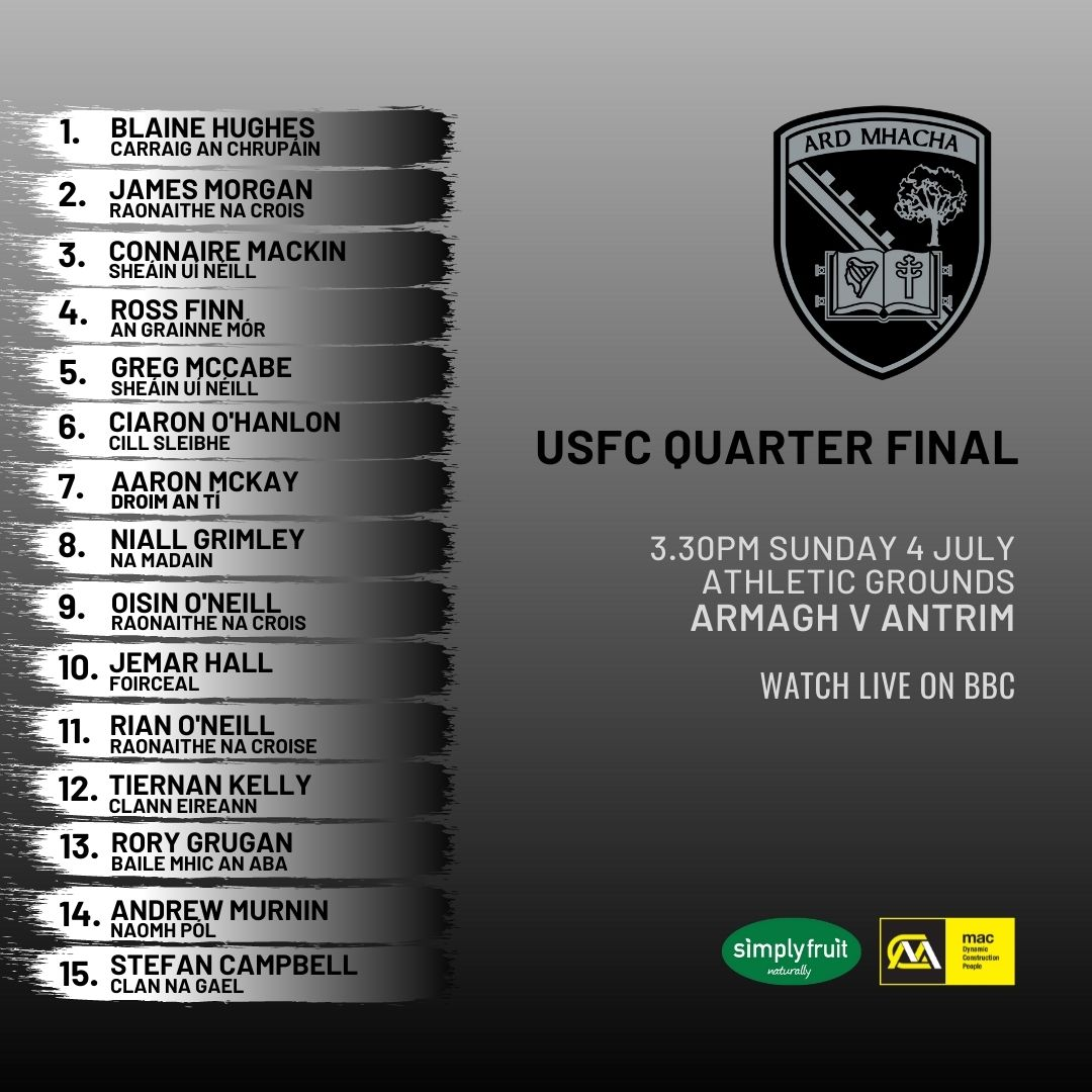 Team news: Kieran McGeeney names his XV to face Antrim in the USFC Qtr Final