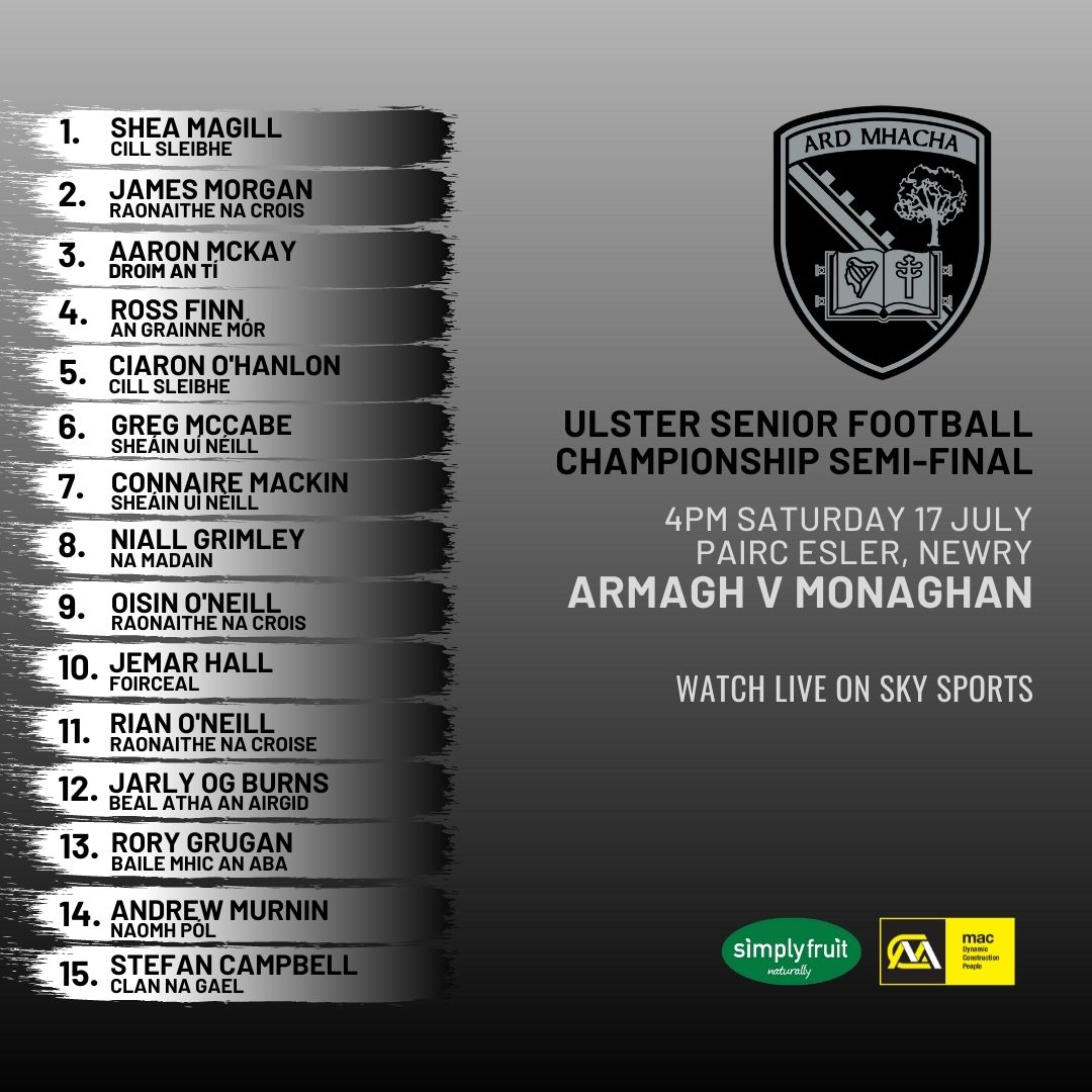 Armagh team named to face Monaghan in USFC semi-final