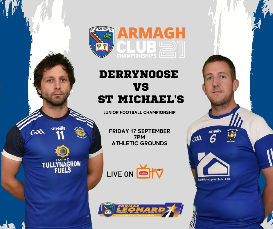 Armagh TV – Derrynoose vs St Michaels – JFC – 17th Sept