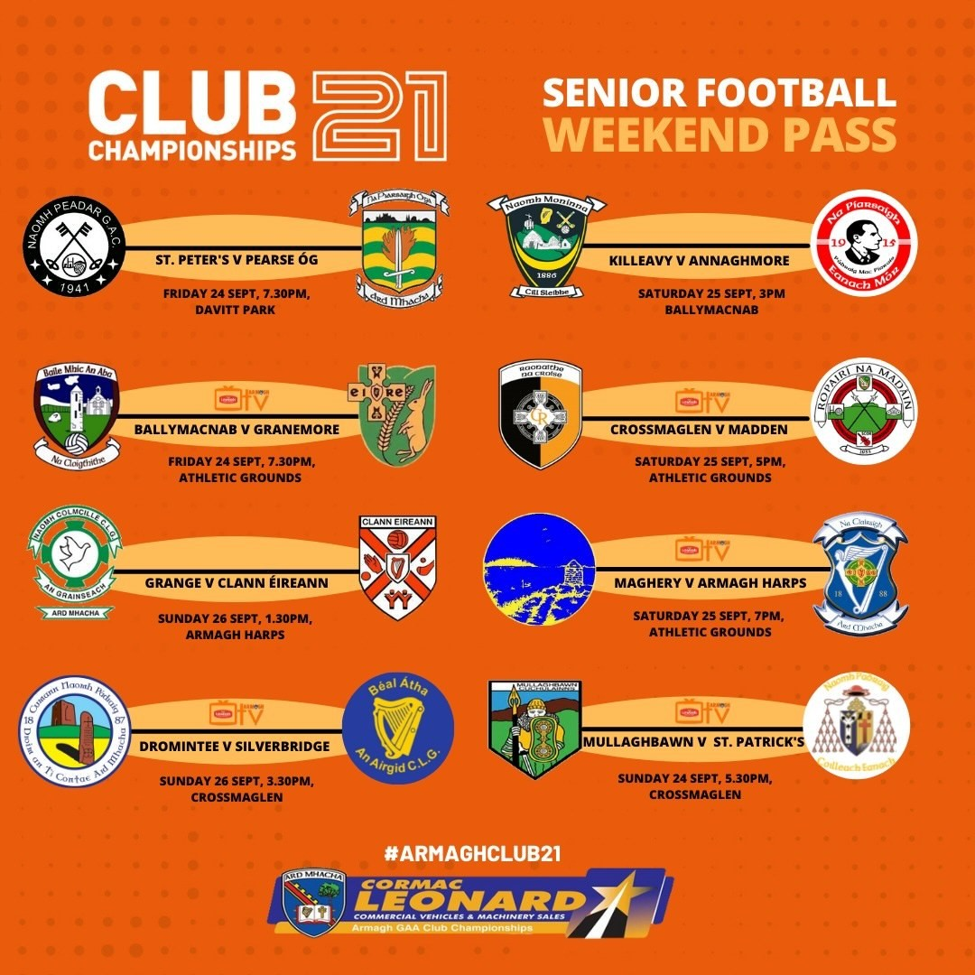 Armagh TV – Weekend Pass for all 5 games