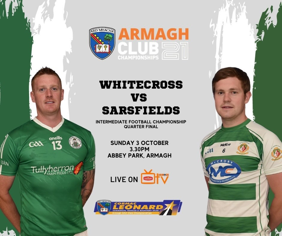 Armagh TV – Whitecross v Sarsfields – IFC – 3rd Oct
